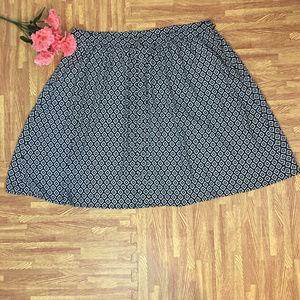Ann Taylor Loft Outlet sz 16 Black Skirt NEW